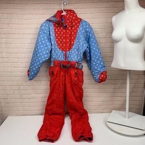 OBERMEYER Snow Suit 1970's Vintage Juniors 14
